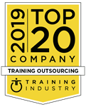 Training Industry Top Training Company Training Outsourcing 2019 award badge