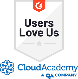 G2crowd Users Love Us Badge Cloud Academy, a QA company