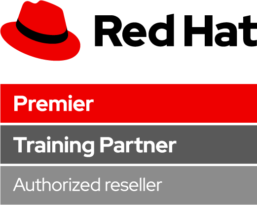 Red Hat Premier Training Partner Authorized reseller logo
